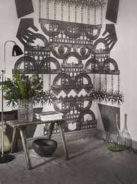 captivating wall murals that transform your home view in gallery wall mural inspired by ethnic symbols and patterns
