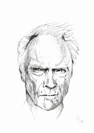saatchi art clint eastwood drawing by jan poncelet