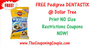 free pedigree dentastix print no size restriction coupon now