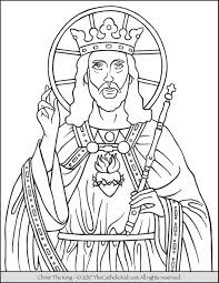 christ king coloring thecatholickid