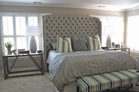 Diy Tufted Headboard Home Design Diy Tufted Headboard With Wings Farmhouse Expansive