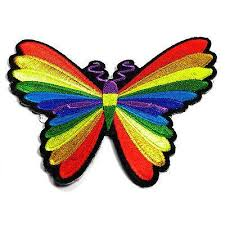 embroidered colourful butterfly iron on sew on patch patchers