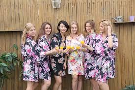 wedding dressing gowns bridesmaid robes cotton kimono robe bridal party robes bridesmaid