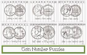 classroom freebies coin themed number puzzles