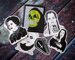 goth sticker pack the addams family wednesday morticia uncle