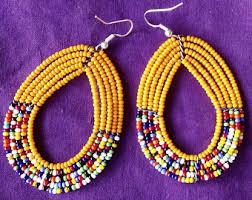 maasai earrings etsy
