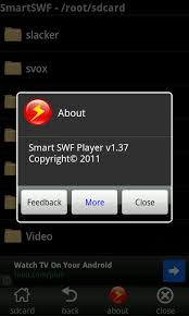 swf player for android android play downloaded flash swf files with smart swf player