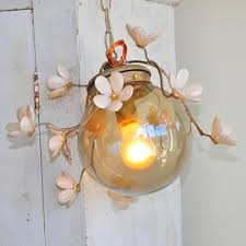 ashwell shabby chic couture globe branches twig light