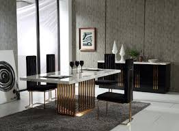 designer dining room sets kingsley modern marble u0026 rosegold dining table