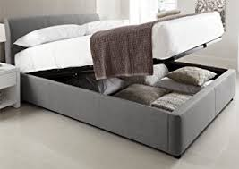 serenity upholstered ottoman storage bed grey double bed frame