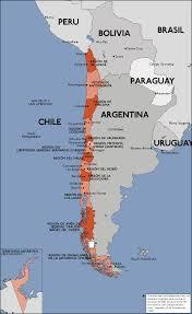 Los Angeles Regions Map by Viejo Mapa De Las Regiones Administrativas De Chile Old Map Of