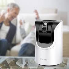 Small Cameras For Home Amazon Com Zmodo Pan U0026 Tilt Wifi Security Camera With 2 Way Audio