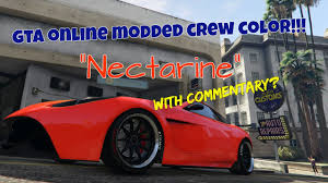 new gta online modded crew color