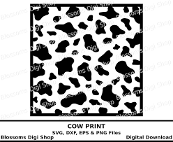 cow print svg digital download animal print template eps vector