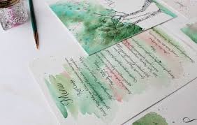 watercolor garden wedding invitations momental designsmomental designs