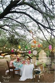 Backyard Tea Party - inspiration decor start collecting different chairs for the