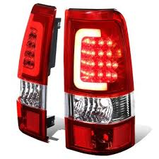 2004 silverado tail lights chevy silverado 2500 2003 2004 led tail lights red tube