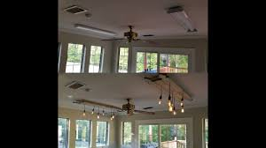 Replace Fluorescent Light Fixture In Kitchen by Changing Fluorescent Light Fixtures To Edison Chandeliers Youtube
