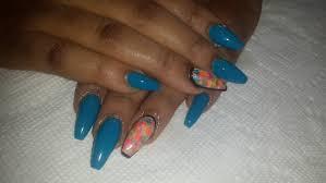 blue coffin nails drybrush nailart nail art tutorial youtube