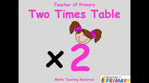 2 times table teaching resource youtube