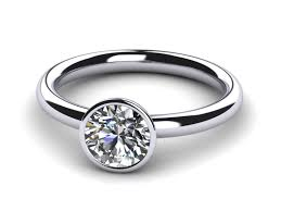 bezel engagement ring platinum bezel ring
