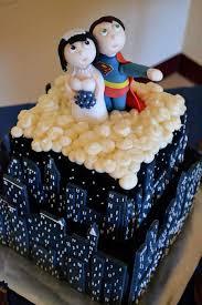 superman wedding cake white cake with strawberry filling ganached