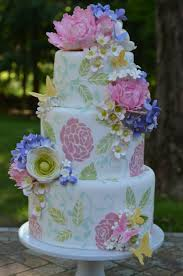 garden wedding cake with gumpaste flowers cakecentral com