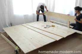 Building A Platform Bed With Storage by Homemade Modern Ep89 Platform Bed