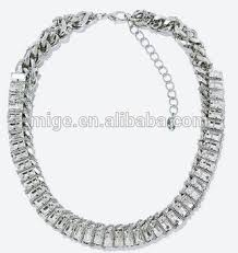 silver necklace types images New design glass crystal necklace silver chain necklace party wear jpg