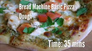 Pizza Dough In A Bread Machine Bread Machine Basic Pizza Dough Recipe Youtube