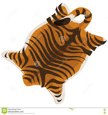 tiger skin as a carpet vector illustration stock vector image