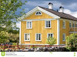 old swedish farmhouse stock photo image 73656090