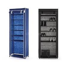 7 layer zip up door shoe rack shelf storage closet organizer