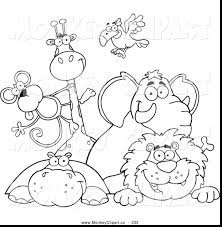 good zoo animals clip art black and white with zoo coloring pages
