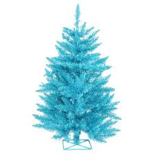2ft pre lit artificial tree with plastic tree stand and