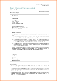contract management template with 8 breach of contract letter