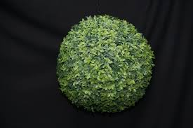 Hanging Topiary Artificial Topiary Balls Large 30cm Green Hanging Artificial Buxus
