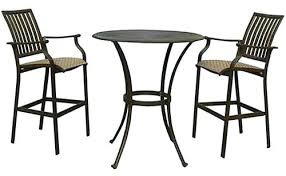 Patio High Table And Chairs Bar Stool Long Narrow High Top Metal Wood Combo Outdoor Bar
