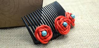flower decoration for hair step by step on decorating hair combs with handmade