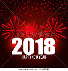 happy new year post card happy new year 2018 postcard stock vector 750590428