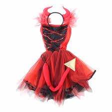 baby birthday dress red devil costumes for halloween party