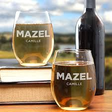 how to personalize a wine glass what happens live mazel personalized etched wine glass