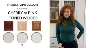 best wall color for kitchen with cherry cabinets wood cabinets cherry or pink the best paint colours to update them