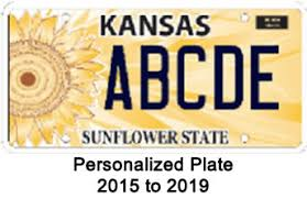 personalize plate kansas department of revenue kansas personalized and disabled