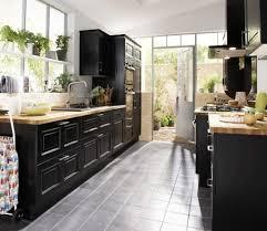 cuisine lapeyre bistrot cuisine noir et bois photo lapeyre bistro noir vieilli avec