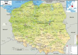 Poland Map Flag Geoatlas Countries Poland Map City Illustrator Fully