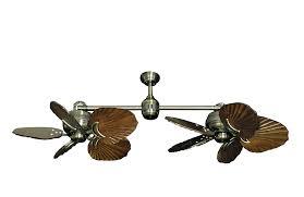 Unique Fan Twin Star Ii Antique Brass Dual Ceiling Fan With 35