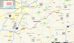 Connecticut State Map by Connecticut Route 66 Wikipedia