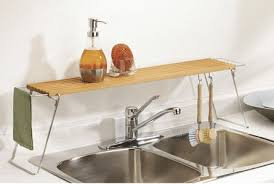 Kitchen Sink Shelves - overboard sink shelf by umbra apartment therapy