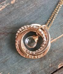Children S Birthstone Necklace Kids Names Necklace With Birthstone Mothers Necklace With